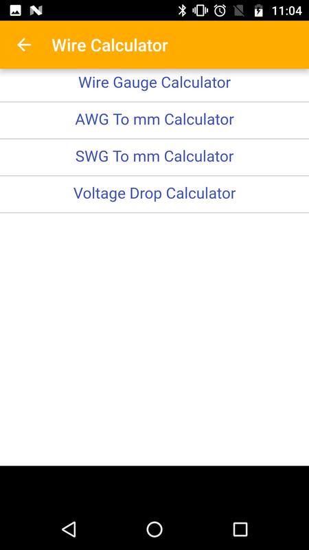Wire calculator for android apk download wire calculator screenshot 5 greentooth Choice Image