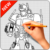 How to Draw Robot Characters icon