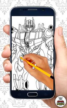 How to Draw Robot Characters apk screenshot