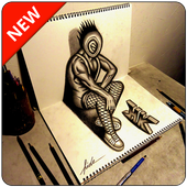 3D Art Drawing - Awesome icon