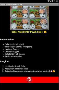Resep Masakan Untuk Bekal Anak screenshot 2
