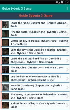 Guide Syberia 3 Game apk screenshot