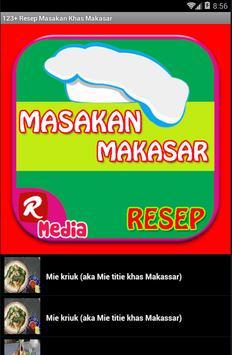 123+ Resep Makanan Makassar apk screenshot