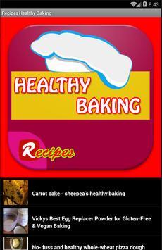 Recipes Healthy Baking apk screenshot