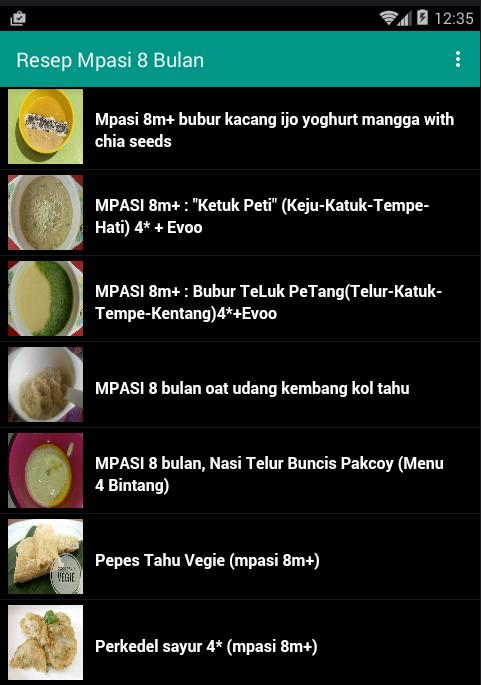 Resep Mpasi 8 Bulan For Android Apk Download