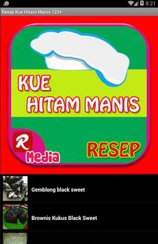 Resep Kue Hitam Manis 123+ apk screenshot