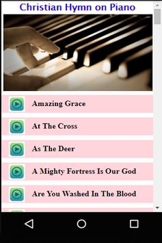 Christian Hymns on Piano poster