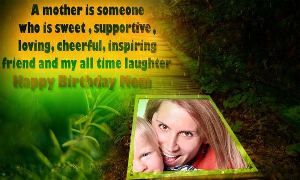 Happy Birthday Mom frames apk screenshot