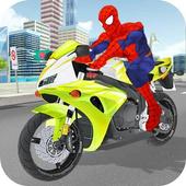 Superhero Stunts Bike Racing Games icon