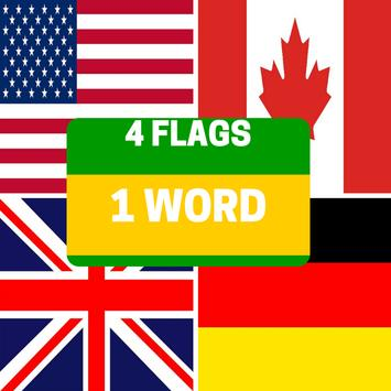 4 Flags 1 Word poster