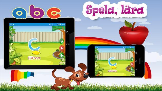 Barn lärande spel - Svenska screenshot 7
