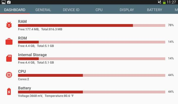 Hardware information syot layar 15