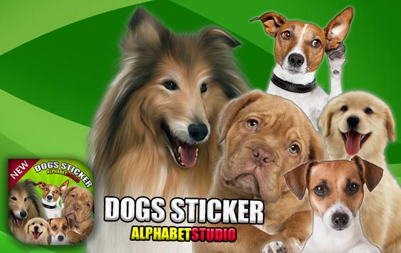 Funny Dogs Photo Sticker poster