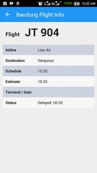 Bandung Flight Info screenshot 2