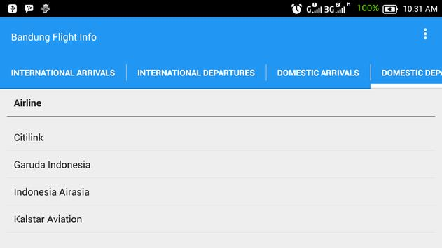 Bandung Flight Info screenshot 3