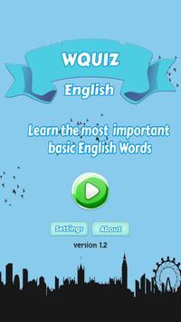 W Quiz English Beginner poster