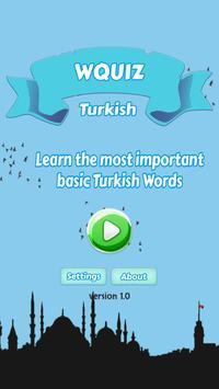 W Quiz Turkish Beginner poster