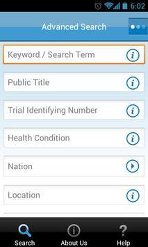 UK Clinical Trials Gateway screenshot 2