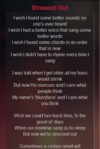 Twenty One Pilots Lyrics For Android Apk Download