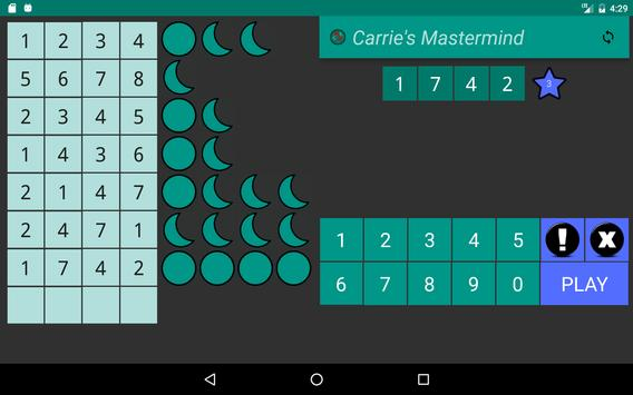 Carrie's Mastermind Free apk screenshot