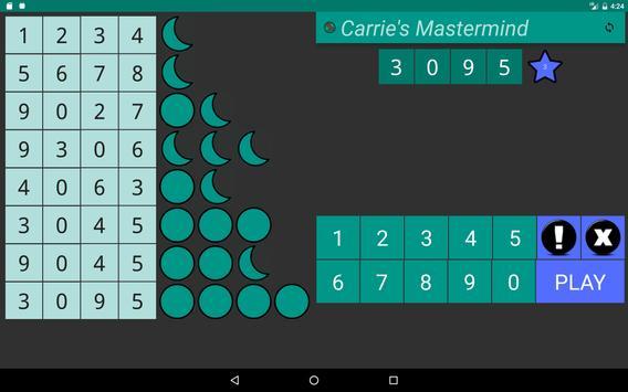 Carrie's Mastermind Free screenshot 7