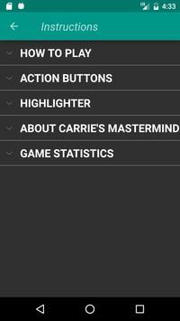Carrie's Mastermind Free screenshot 4