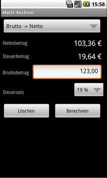 Mehrwertsteuer-Rechner screenshot 1