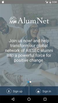 AlumNet - AIESEC poster