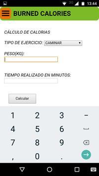 Cálculo de Calorías apk screenshot
