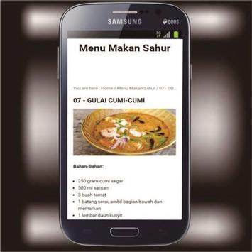 Menu Sahur screenshot 1