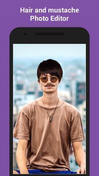 Man Hair Mustache Photo Editor apk screenshot