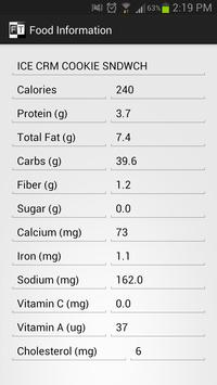 FoodTracker apk screenshot
