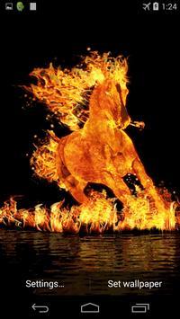 Burning Horse Live Wallpaper Apk Screenshot