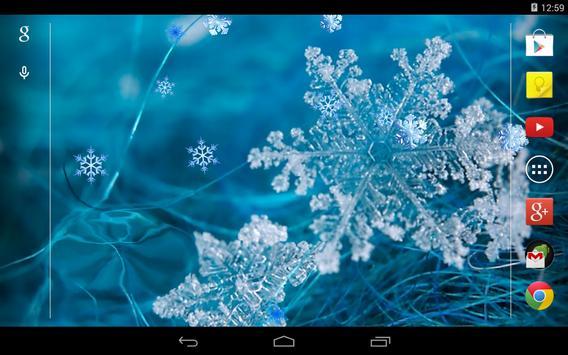 Snowflakes Live Wallpaper apk screenshot