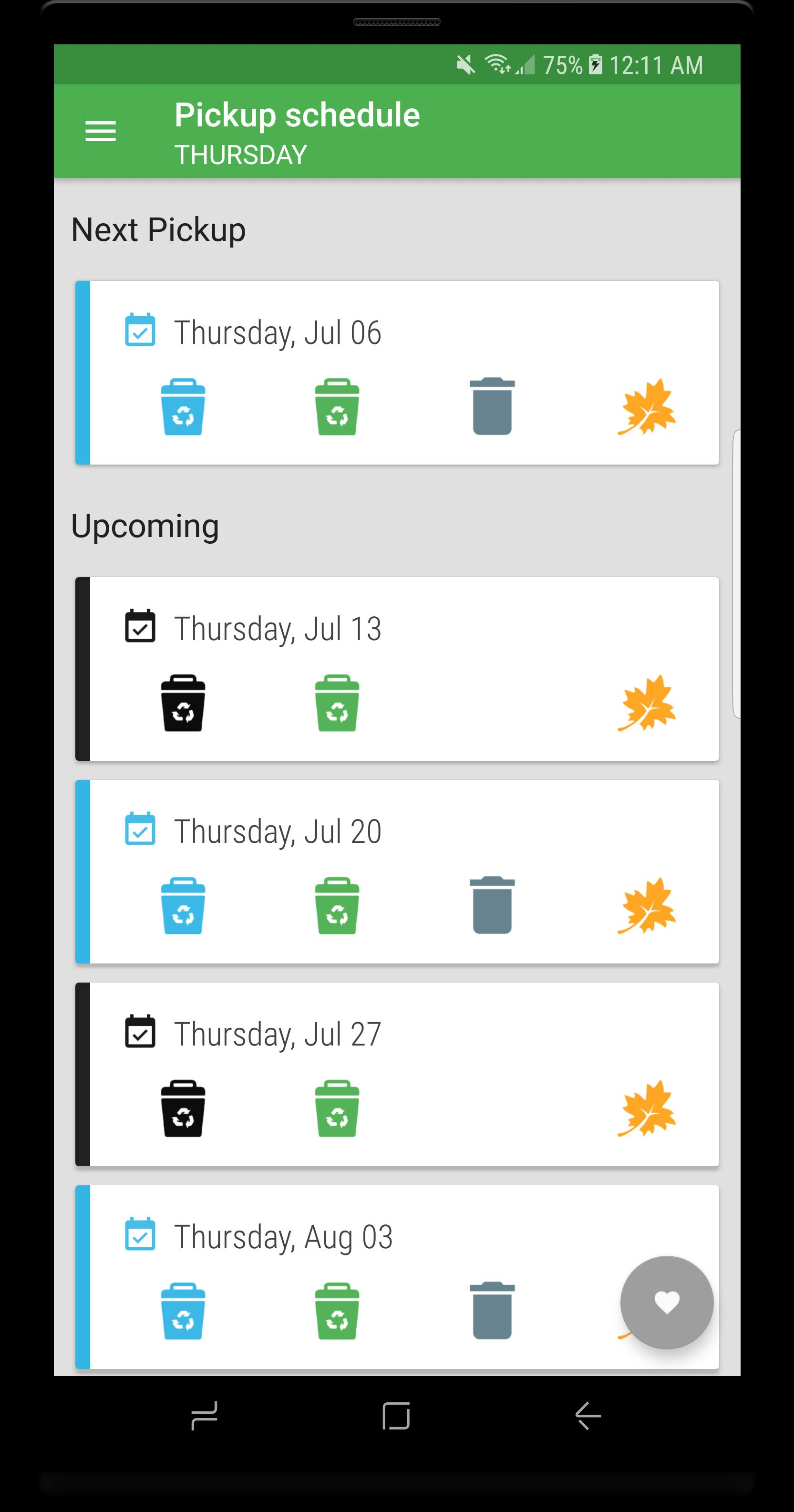 Ottawa Recycle: Garbage Collection Calendar for Android