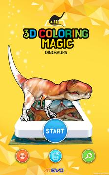AREVO DINO - 3D AR COLORING poster