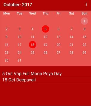 Srilankan Calendar 2017 poster