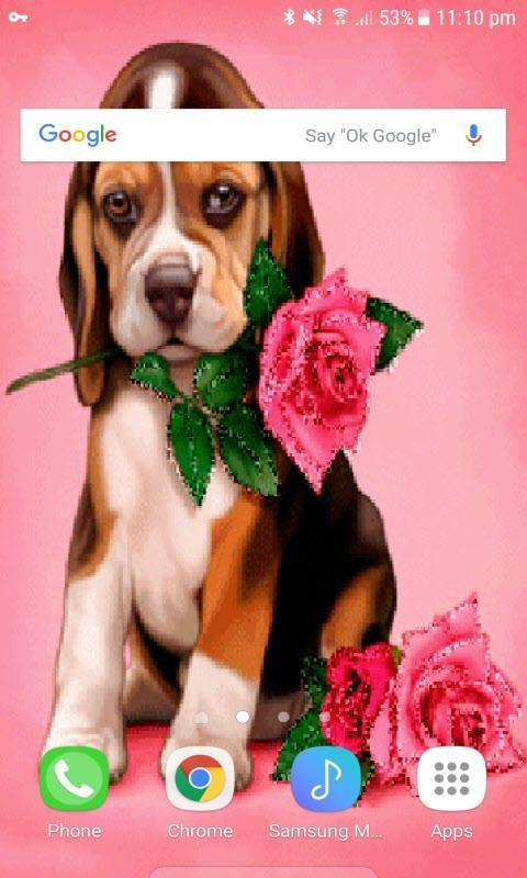 Puppy Rose Live Wallpaper poster ...