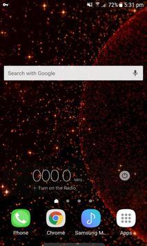 Red Galaxy Live Wallpaper screenshot 1