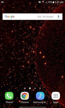 Red Galaxy Live Wallpaper screenshot 2
