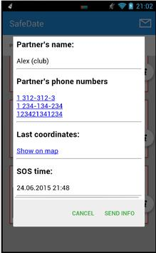 SafeDate apk screenshot