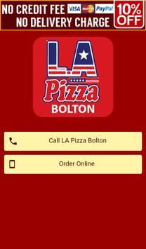 LA Pizza Bolton poster