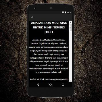 Amalan Jitu Tembus Mimpi Togel screenshot 2