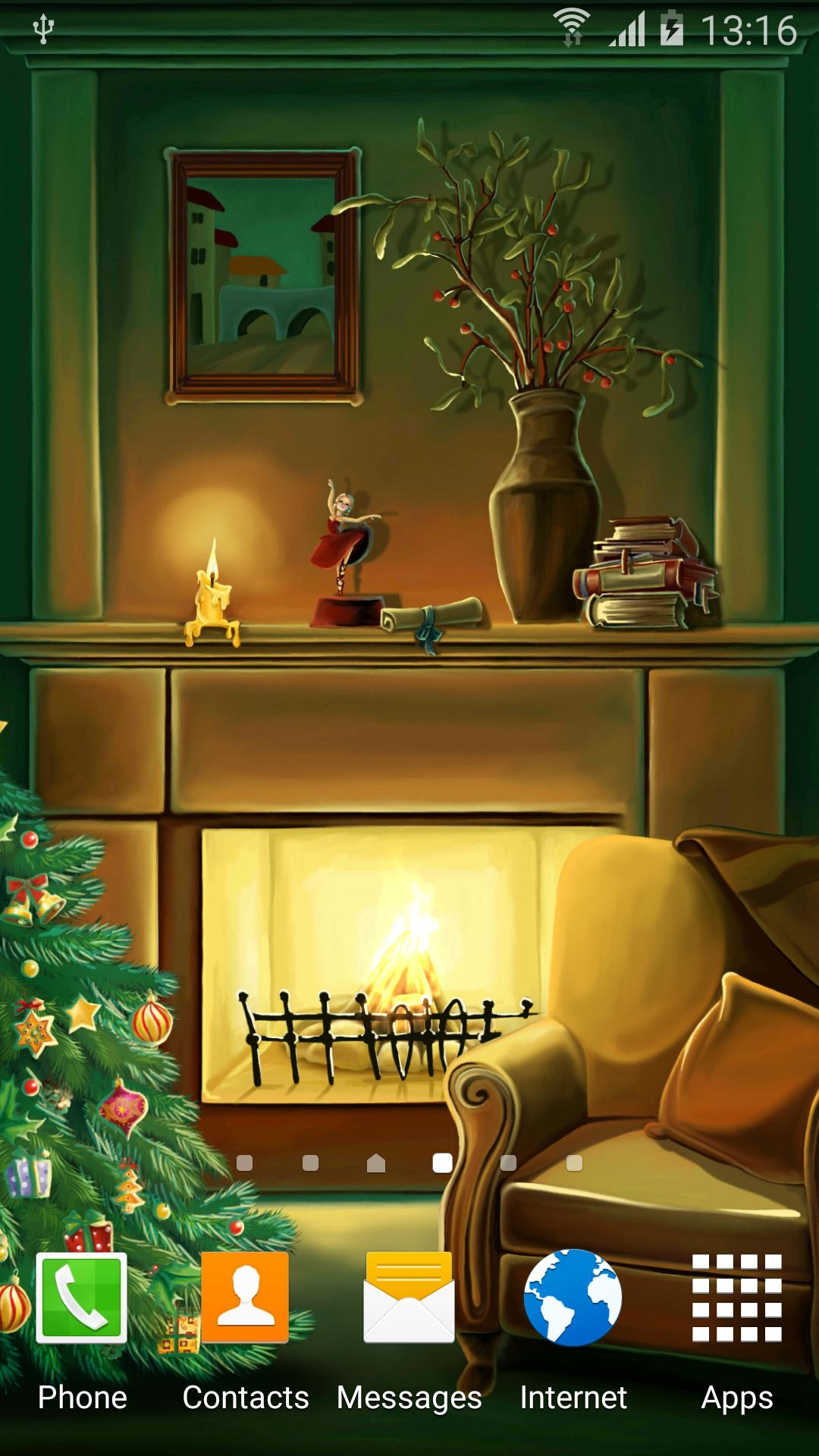 Christmas Fireplace Wallpaper for Android - APK Download