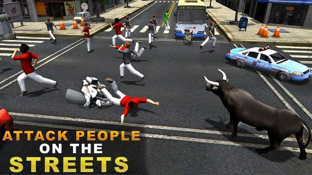 Angry Bull Attack Simulator 3D poster