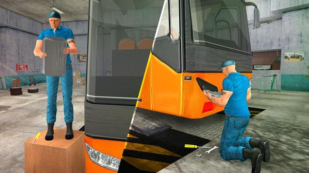 Bus Mechanic Simulator Game 3D apk screenshot