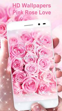 Pink Rose Wallpaper HD poster