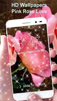 Pink Rose Wallpaper HD apk screenshot