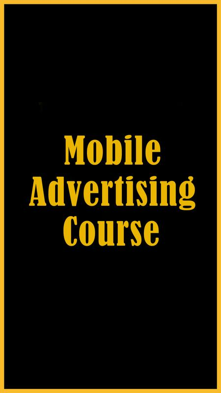 Mobile Advertising Course For Android