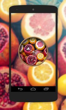 Fruit Clock Live Wallpaper screenshot 1
